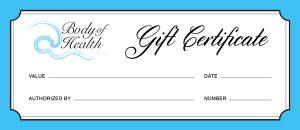 BOH Gift Certificate